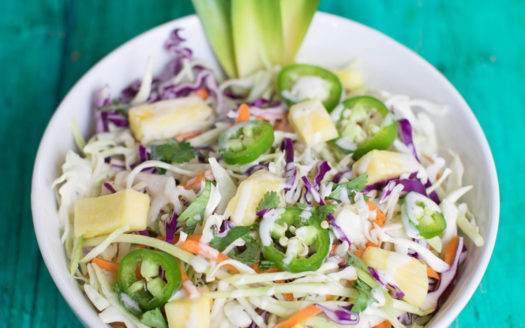 Pineapple Vegetable Slaw Salad