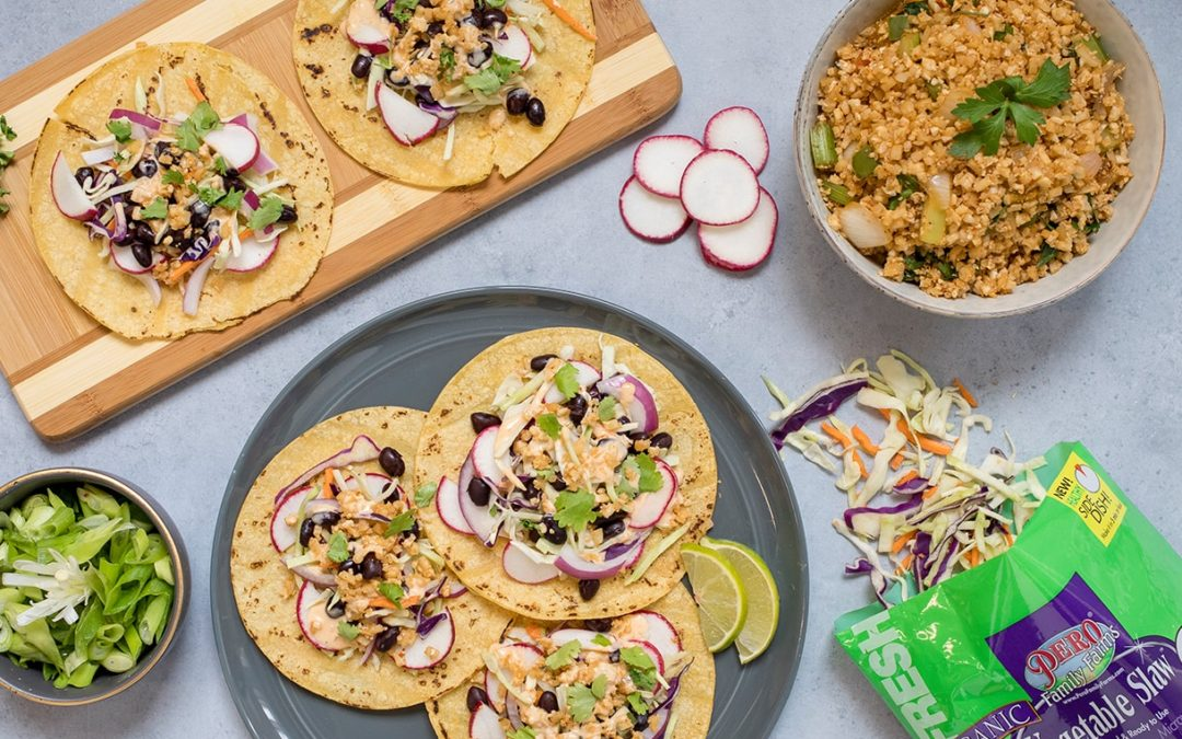 Vegetable Slaw Riced Tacos