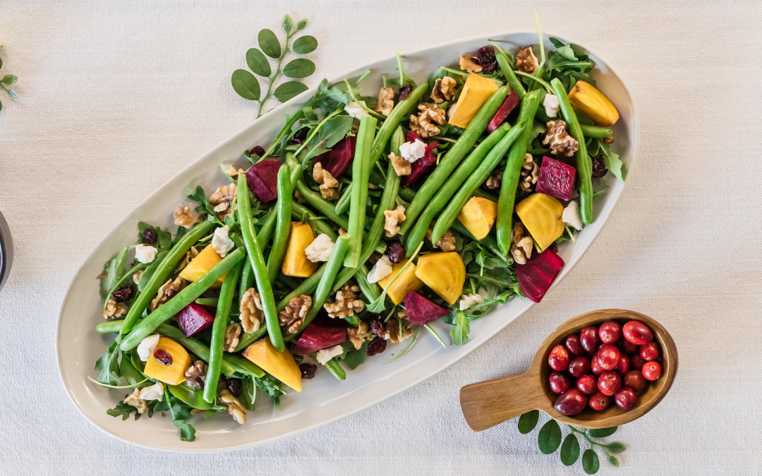 Roasted Green Beans and Beet Salad