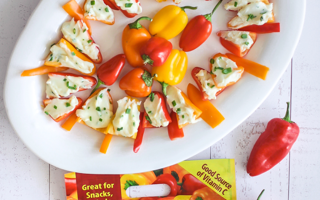 Cheesy Stuffed Mini Sweet Peppers