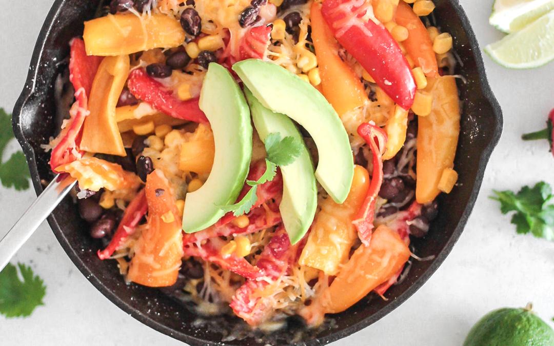 Mini Sweet Pepper Skillet Enchiladas