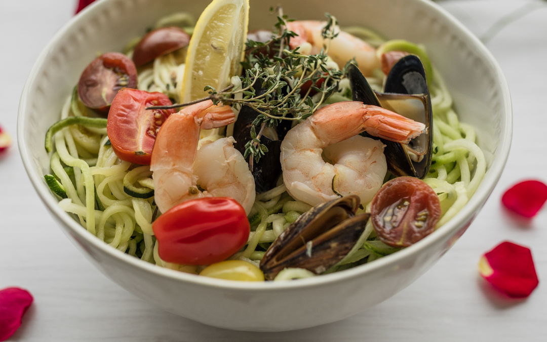 Seafood and Veggie Spiral Pasta