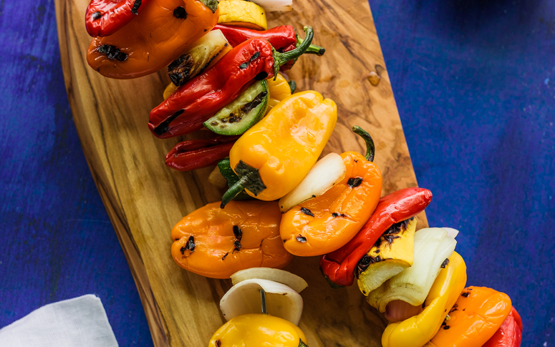 Grilled Mini Sweet Pepper Kabob