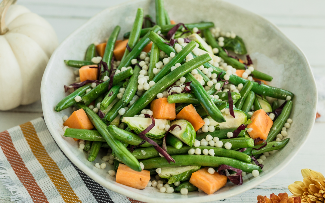 Sweet Green Beans & Brussels with Couscous