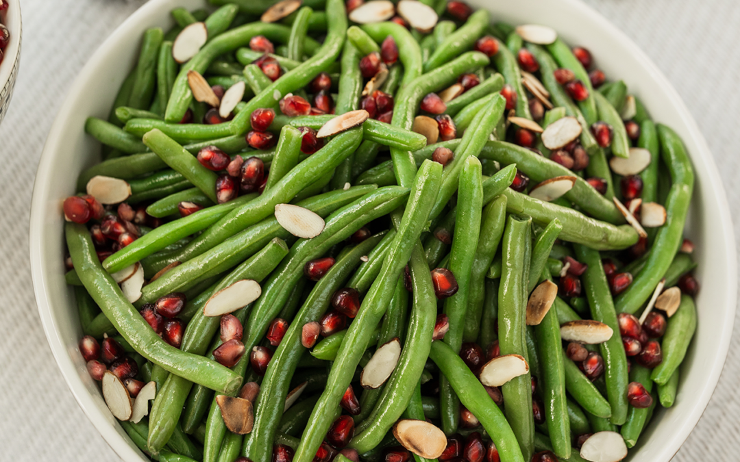 Pomegranate Green Beans with Almonds
