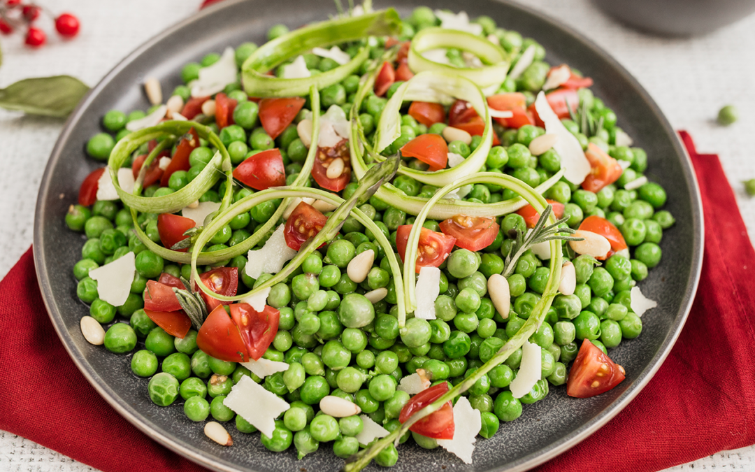 English Peas with Asparagus Ribbons