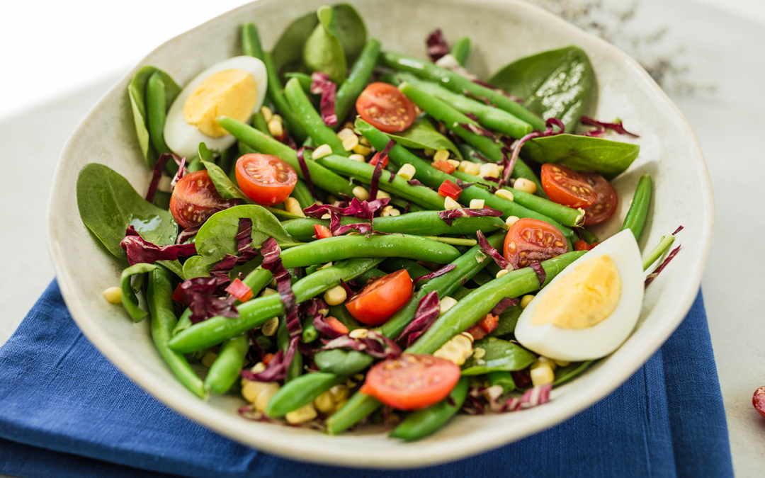 Spinach & Green Bean Salad with White Balsamic Dressing